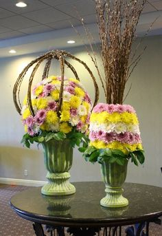 Fun spring floral designs. Perfect for a party! -- by Crossroads Florist in Mahwah NJ
