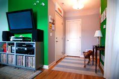 a diy FLOR rug // yellow brick home