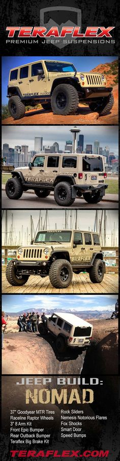 Love my Teraflex suspension! Jeep Jk, Jeep Truck, 4x4 Trucks, Diesel Trucks, Types Of Jeeps, Biz News, Little Truck, Badass Jeep, Jeep Parts