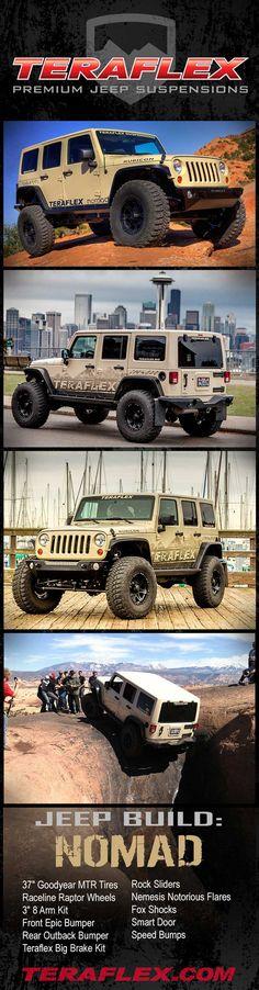 #TeraFlex Jeep Build-Up: Nomad - http://www.teraflex.biz/news/vinny-2012-jk/
