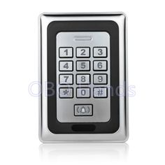 28.99$  Watch here - http://aligts.shopchina.info/go.php?t=32700255649 - Free shipping metal waterproof access control door access control system RFID card reader metal keypad Security-K88 silver  #shopstyle