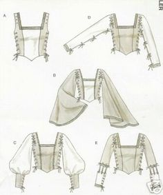Renaissance Top Pattern Laced Bodice Cuff Sleeve XL 16 18 20 22 McCalls 4696 | eBay