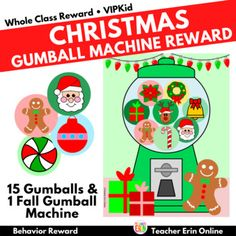 This Christmas themed gumball machine student incentive adds a new twist to your gumball machine reward! Each gumball features a Christmas themed gumball to reward your students. Your students will LOVE adding these fun gumballs to the machine as their earn their reward! Use with your whole class, ... Behavior Rewards, Classroom Rewards, Gumball Image, Whole Class Rewards, Student Incentives, Reward Ideas, Reward System, Gumball Machine, Classroom Community
