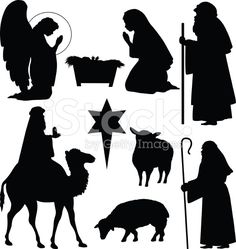 Christmas Nativity Silhouettes stock vector art 14023288 - iStock