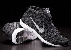Nike Free Flyknit Chukka Black/Pure Platinum