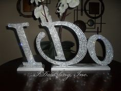 Gorgeous Bling Wedding I Do sign Head Table Cake Table reception. $115.00, via Etsy.