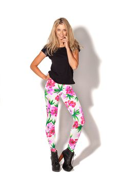 Honolulu Leggings by Black Milk Clothing. I want these soooo bad but they are already sold out D: