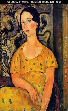 Young Woman in a Yellow Dress - Amedeo Modigliani