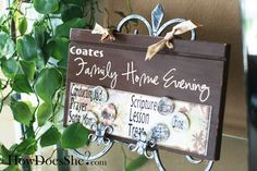 Cute Family Home Evening board. I want to make!