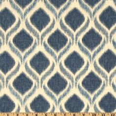 Swavelle/Mill Creek Giorgio Atlantic Blue from @fabricdotcom  Screen-printed on a linen/rayon blend fabric, this versatile medium/heavy weight fabric has a soil and stain repellent finish. This fabric is perfect for window treatments (draperies, valances, curtains and swags), toss pillows, duvet covers, slipcovers, upholstery and tote bags. Colors include pale periwinkle blue, medium blue and ivory.