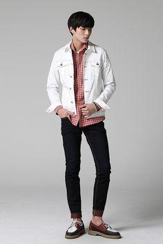White jacket #menstyle #mensfashion #koreanfashion