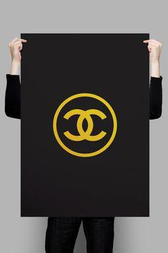 Chanel Logo High Fashion Coco Chanel Wall Art by AbstraktDesign