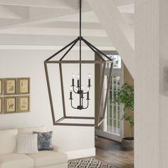 Large (Between - wide) Entryway Lighting You'll Love in 2019 Lantern Chandelier, Lanterns, Lantern Pendant Lighting, Farmhouse Chandelier, Pendant Lamps, Pendant Lights, Entryway Lighting, Weathered Oak, Glass Shades