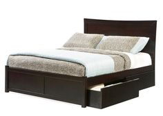 Platform Bed - Miami with Open Footrail