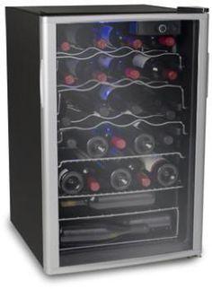 SOLEUS WK6 21 INCH FREESTANDING WINE COOLER WITH 38 WINE BOTTLE CAPACITY, DUAL PANEL GLASS DOOR AND REVERSIBLE DOOR SWING 110 VOLTS ONLY FOR USA  https://www.worldwidevoltage.com/wk6.html