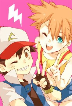 Ash and Misty. This is so cute!!:)