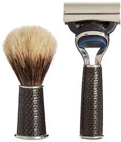 CEDES MILANO Travelling carbon-fibre shaving set Shaving Set, Carbon Fiber, Travelling, Handmade, Beauty, Design, Tools, Hand Made, Instruments