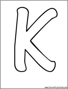 bubble letters k coloring page bubble letter