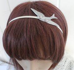 Steampunk Sparrow Headband Metal Bird Headband by bellamantra, $26.00 Not a headband fan, but I would totally wear this!