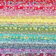 A lovely rainbow of Liberty colours to brighten any day!