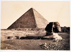 Frith, Francis English (1822-1898) - The Sphynx and the Great Pyramid, Geezeh ca. 1857 / print ca. 1863, albumen print