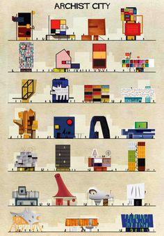 ATELIER RUE VERTE le blog: Architecture / A quoi ressemblerait une maison créee par Dali, Mondrian ...?