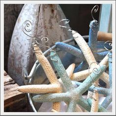 want to put these on a Christmas tree this year....Seaside Inspired   sea star christmas ornament from SeasideInspired.com. Become inspired with sea star christmas ornament from Seaside Inspired.