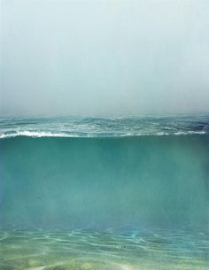 Still water runs deep. But I like that this is all choppy on top -- because so often my brain feels like this! Photomontage, Surf Mar, All Nature, Foto Art, Belle Photo, Under The Sea, Painting Inspiration, Art Photography, Underwater Photography