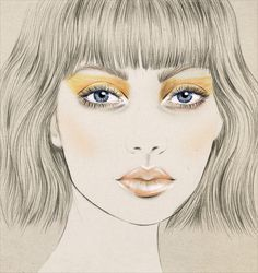 New Zealand Fashion Week makeup for Salasai by MAC Cosmetics illustration by Kelly Thompson . Kelly Thompson, Makeup Illustration, Art Illustrations, Fashion Illustrations, Purple Books, Woman Sketch, Makeup Course, Anime Eyes, Portrait Art