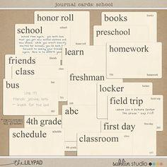 NEW | Journal Cards: School