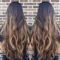 Baylage/Ombré dark brown to light brown: