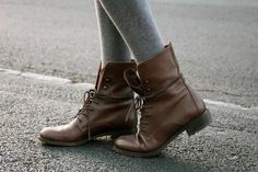 Brown boots. Cute.