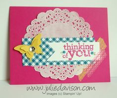 Kind & Cozy Swap Card with Washi Tape by juls716 - Cards and Paper Crafts at Splitcoaststampers