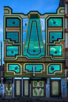 """""""Welcome to high altitude architecture in El Alto, Bolivia, this unique and flamboyant style of patterns, colour and motifs inspired by the Tiwanaku culture is the brainchild of the self taught architect Freddy Mamani Silvestre. Cultural Architecture, Facade Architecture, Amazing Architecture, Bolivia, Art Nouveau, Art Deco Buildings, Extra Terrestrial, Flamboyant, Art Deco Design"""
