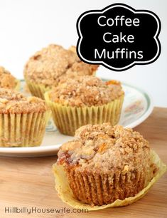Coffee Cake Muffins. These are so good and easy to make. Bake them in muffin tins or make a cake in a loaf pan.