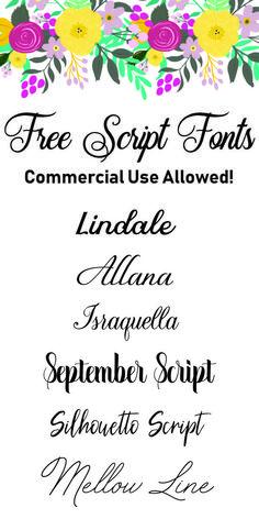 Free Script Fonts wi