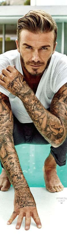 David Beckham People Sexiest Man Alive Marc Hom Lolo inside proportions 698 X 2451 Famous Guys With Tattoo Sleeves - The tattoo designs featured in the Trendy Tattoos, Tattoos For Guys, Game Tattoos, Sexy Tattoos, Tattoo Manche, Tattoo Sites, Tattoo Foto, Brust Tattoo, Arm Sleeve Tattoos