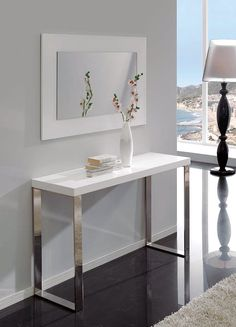 Contemporary console tables – functionality, decorative look and style for today's homes Console Style, Console Design, Console Table Styling, Modern Console Tables, Dining Room Wall Decor, Home Room Design, Interior Decorating, Decorating Ideas, Furniture