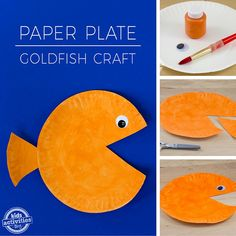 Paper Plate Goldfish