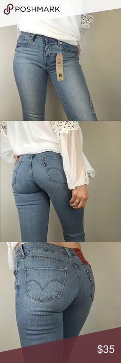 Levi's Mid Rise Skinny Designed to help you look your best, no matter where you're going. The most versatile jean in your closet.   Size: 27x30 NWT 99% cotton, 1% elastane Ask for measurements   SEO: Levi, Levi's, Levis, Levi Strauss & Co, mom-jeans, Coachella, denim, jeans, Levi's Jeans