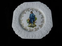 Vintage Lord Nelson Pottery Hand Crafted Blue Boy Gainsborough Porcelain Plate