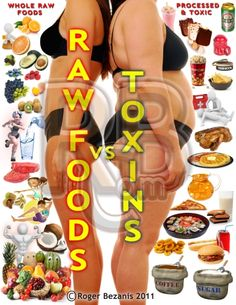 Raw foods vs. toxins  (OH NO!  Coffee is on the Toxins side :( *sigh*)