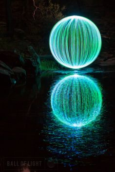 Ball of Light by Denis Smith, Light painting photography with long exposures