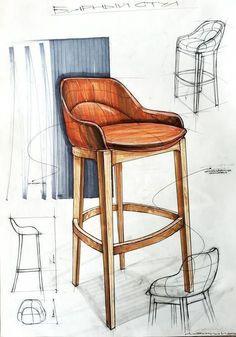 chair,стул – Niko b – Design Kit Design, Design Lab, Chair Design, Furniture Design, Furniture Sketches, City Furniture, Furniture Online, Bedroom Furniture, Retro Furniture
