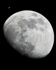 Two of Earth's Moons in One Picture  By Phil Plait|Posted Friday, Jan. 25, 2013 Lauren Hartnett captured two moons in one picture. See the second one? Click to enselenate.  Image credit: NASA/Lauren Hartnett