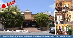 El día de hoy te presentamos esta maravillosa casa ubicada en la Zona Hotelera de Cancún a solo unos minutos del Centro Comercial Plaza La Isla.  ¡Contáctanos!  (998) 146 51 54 o al 01-800-837-0031    #PropiedadesDeLujo #BienesRaices #CasaEnVenta #Quetzal