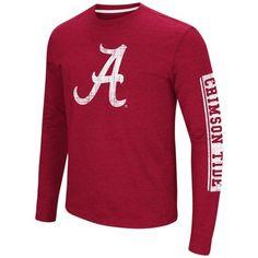 new product df1f7 27910 Alabama Crimson Tide Adult NCAA Sky Box Long Sleeve T-Shirt - Cardinal