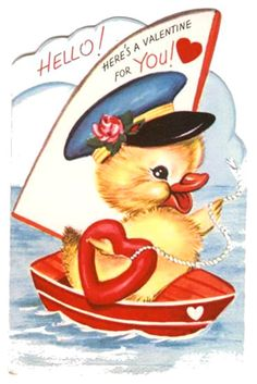 Duckie Valentine.  This was my favorite because it reminded of that yakky duck on hanna barbera