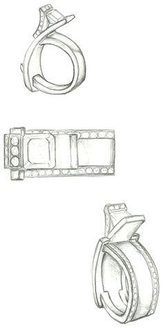 Mark Schneider Design - Elite ring with custom diamond bands