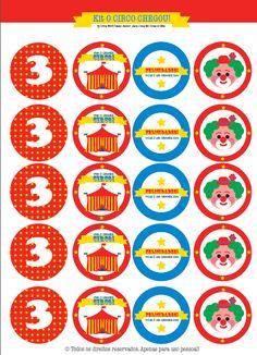 Festa circo para imprimir (grátis!) Circus Party Printables (free!)